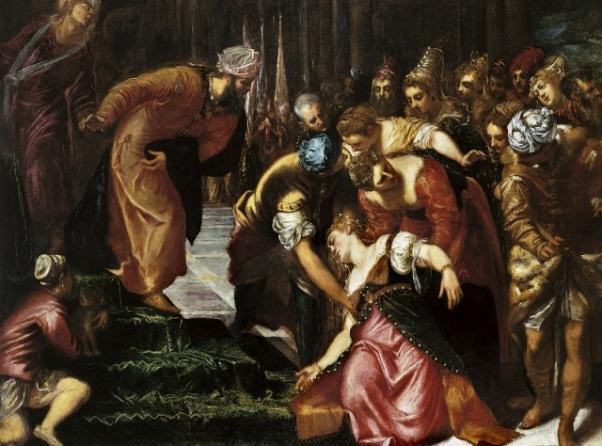 טינטורטו, אסתר לפני אחשוורוש, 1546-47