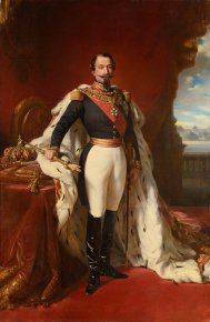 Napoleon III in ceremonial costume, from the studio of Xavier Winterhalter.Credit Osenat