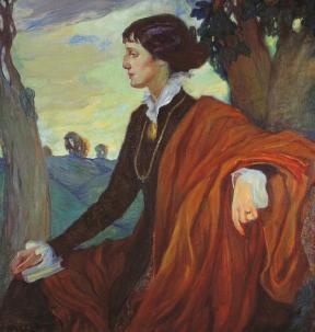 אולגה דלה-ווס-קרדובסקיה, דיוקן המשוררת אנה אחמטובה, 1914, גלרייה טרטייקוב, מוסקבה
