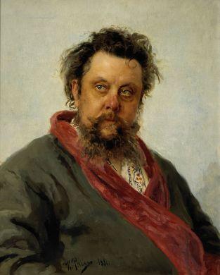 איליה רפין, דיוקן מודסט מוסורגסקי, 1881, גלריה טרטייקוב, מוסקבה