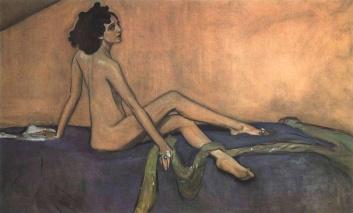 ולנטין סרוב, דיוקן אידה רובינשטיין, 1910, המוזיאון הרוסי, סט. פיטרסבורג
