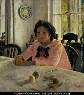 ולנטין סרוב, נערה עם אפרסקים, 1887, גלריה טרטייקוב