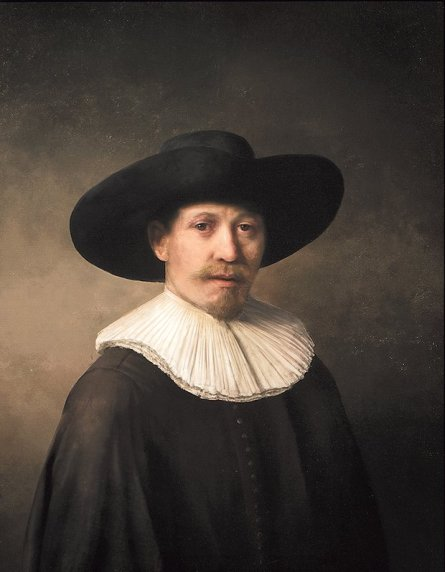 The Next Rembrandt, unveiled in Amsterdam the new artwork is based on 168,263 Rembrandt painting fragments. Photograph handout