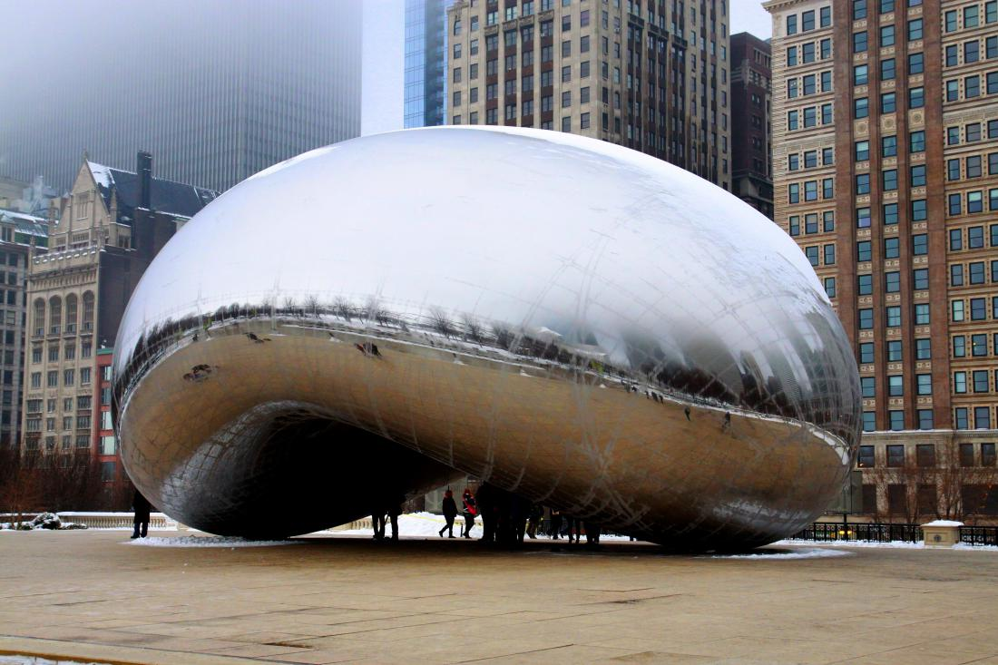 Anish Kapoor's Cloud Gate, on a winter and foggy afternoon in Chicago.jpg