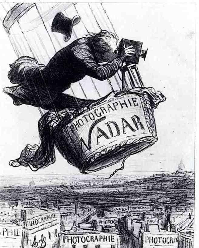 הונורה דומייה,נדר מרים את הצילום למעלת אמנות, לה בולוורד, 25 במאי 1862,ליטוגרפיה, 27.2X22.2, ב,נ,