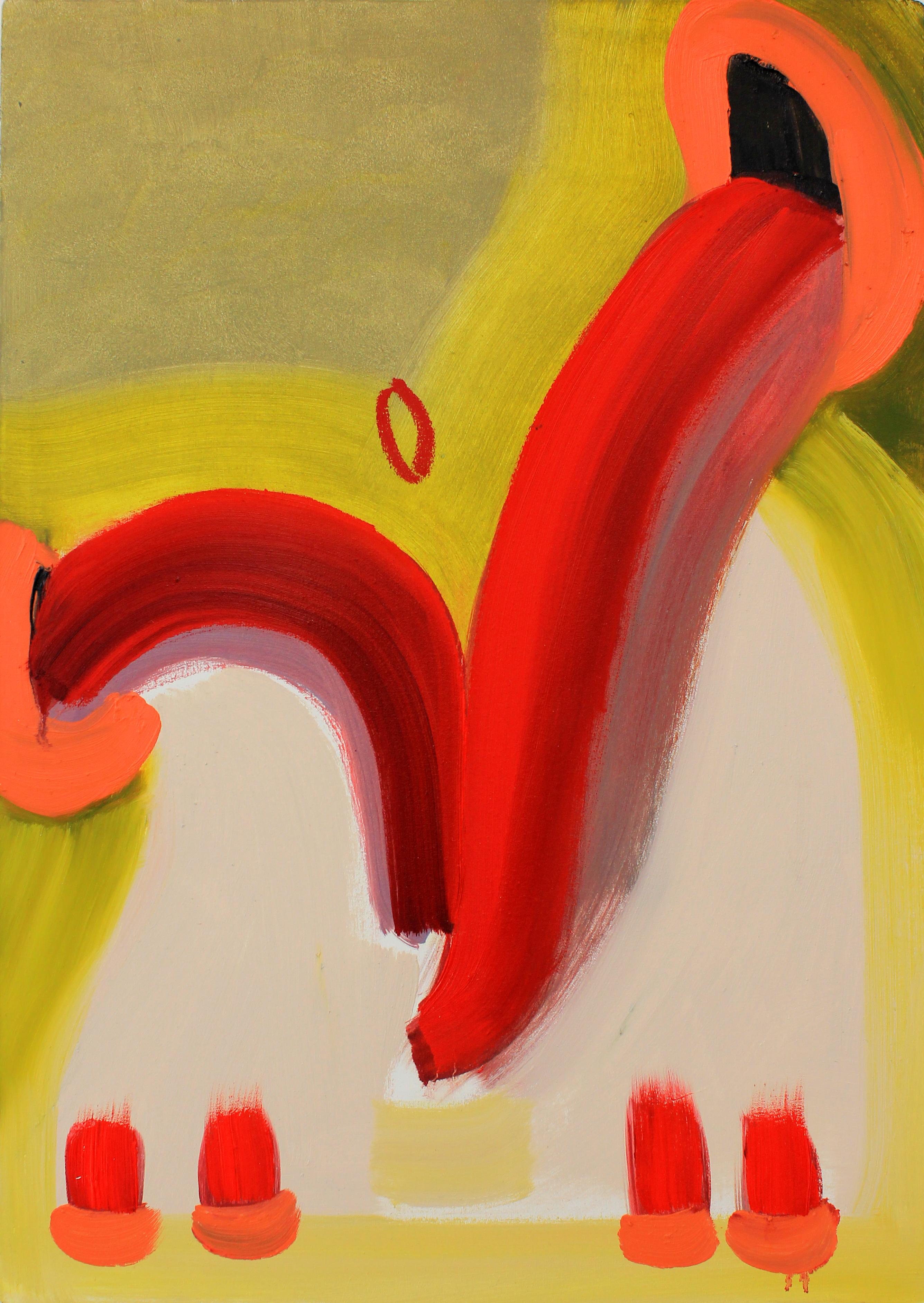 דאגלס הלקקן, שמן על בד, 50X70 סמ, 2013, Douglas the licker, oil paintings on canvas.jpg