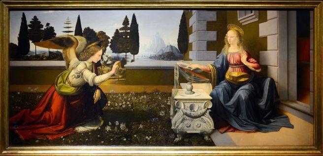 ליאונרדו דה וינצ'י, הבשורה, 1472 בקירוב, באדיבות גלירה אופיצי, פירנצה.jpg