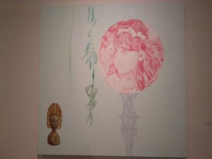 מרב סודאי, אפריקה ישראל,2016, אקריליק וצבעי מים על בד
