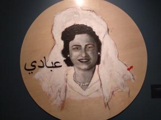 שי עבאדי, הכלה הסורית, אימא, מתוך הסדרה בחזרה ללבנט 20116, טכניקה מעורבת על עץ לבוד