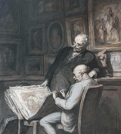 הונורה דומייה, אספני ההדפסים, 1860-64, מוזיאון ויקטוריה ואלברט, לונדון