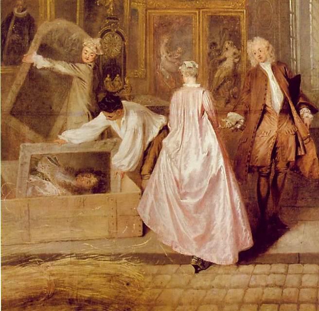 ז'אן אנטואן ואטו, שלט החנות של גרסין, 1721, פרט