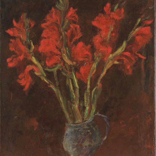 חיים סוטין, גלדיולות אדומות, 1919 בקירוב, אוסף פרטי, ירושלים