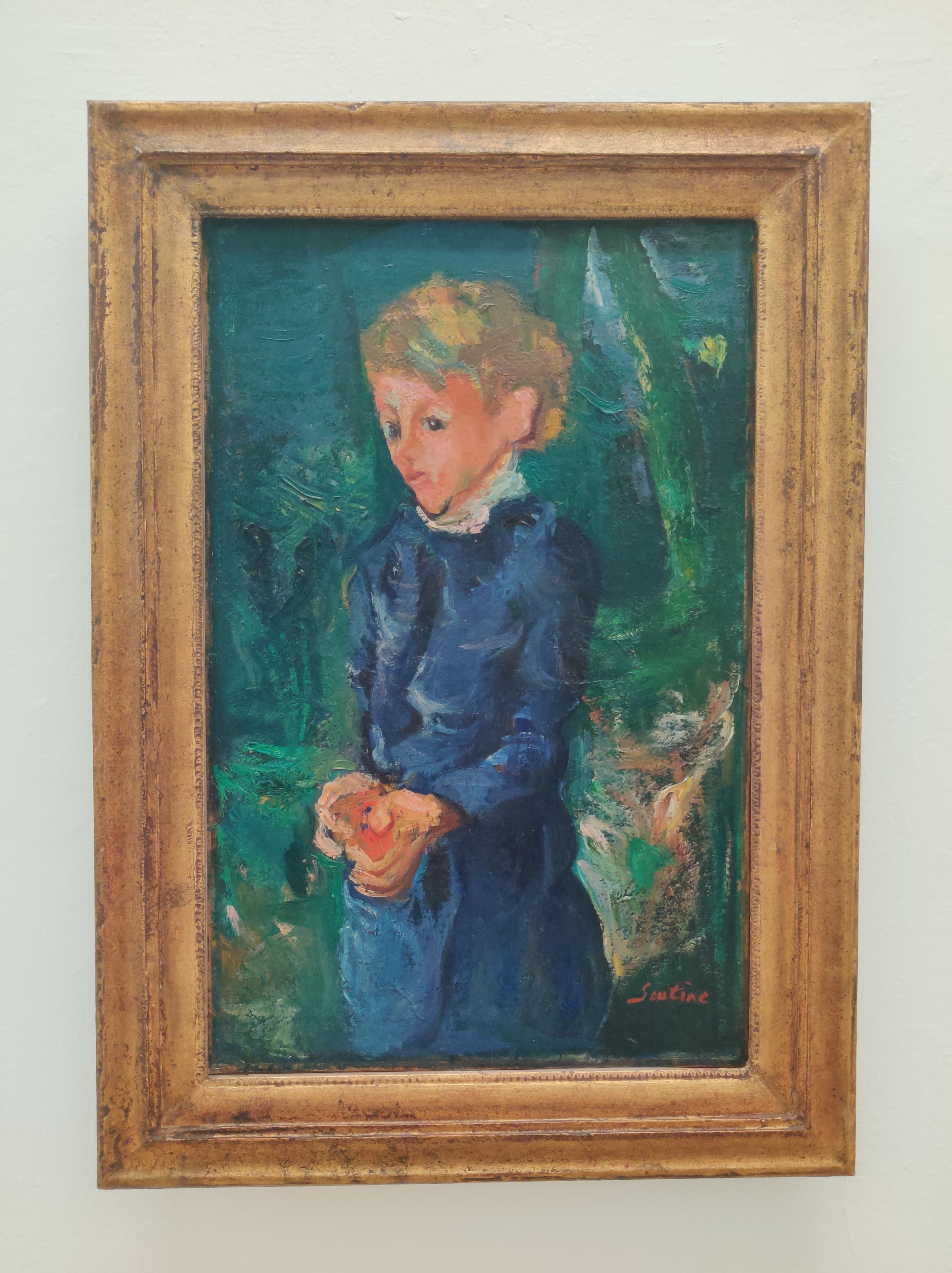 חיים סוטין, ילדה בכחול, 1938-39.jpg