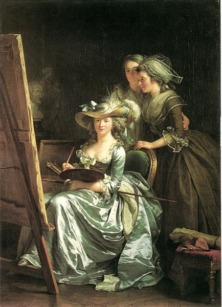 אדלייד לבל גוויארד, האמנית עם שתיים מתלמידותיה,1875, קפה ורוסמונד