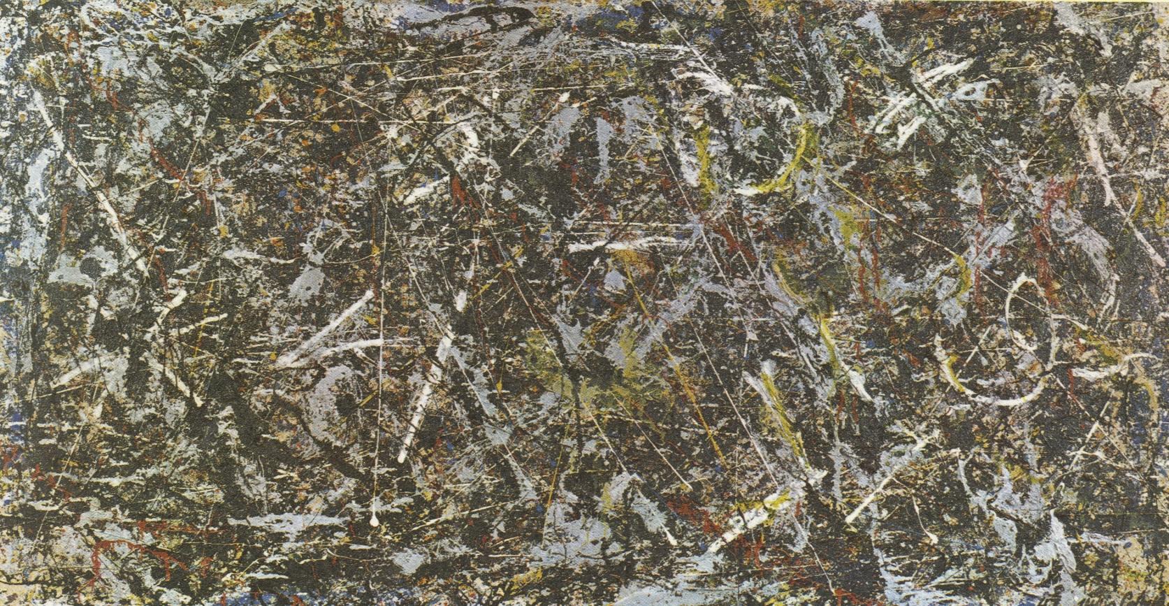 ג'קסון פולוק, אלכימיה, 1947, מיקס מדיה על בד, 114.6X221.3, פגי גוגנהיים, ונציה