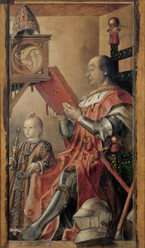 פדרו ברוגוואט או יוסטוס מגנט, פדריגו דה מונטפלטרו ובנו גווידובלדו, 1474 בקירוב