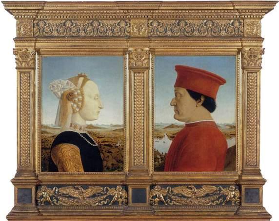 פיירו דלה פרנצ'סקה, דיפטיך אורבינו, 1465, אופיצי