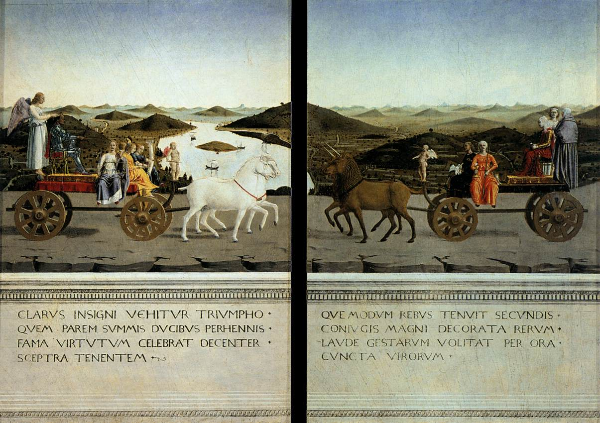 פיירו דלה פרנצ'סקה, דיפטיך אורבינו, 1465, הטריונפי