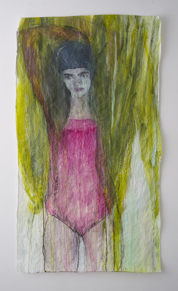 לילי כהן פרח יה, אלונה אהובתי, 2020, 150על86, צבעים מבוססי מים על נייר