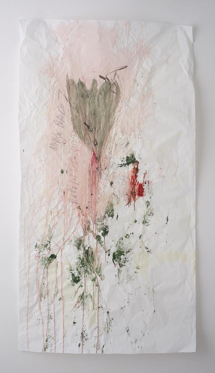 לילי כהן פרח יה, כל השריטות ורודות,150 2020, על86, צבעים מבוססי מים על נייר