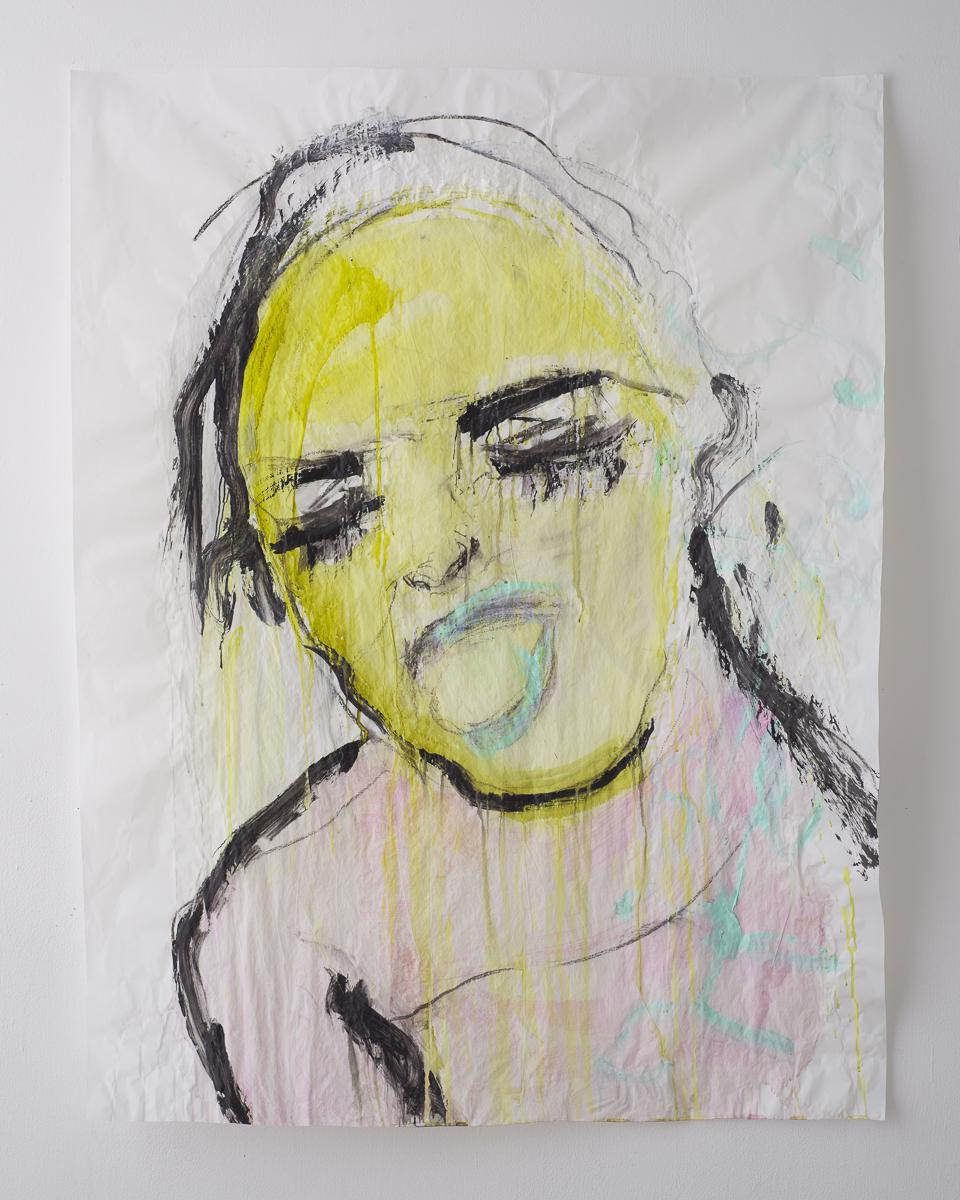 לילי כהן פרח יה, למדתי לצעוק, 2020, 113על83, אקריליק על נייר