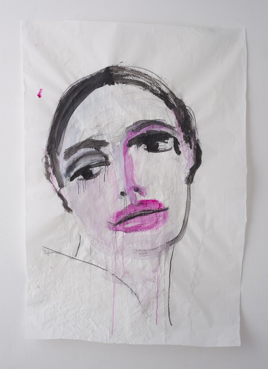 לילי כהן פרח יה, תלמד אותי איך מאמינים, 2020, 100על80, צבעים מבוססי מים על נייר