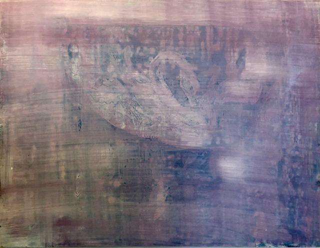 עתליה שחר ברבור אקריליק על לוח עץ
